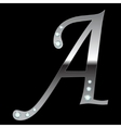 silver metallic letterA vector image vector image