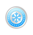 silver or platinum circular badge with snowflakes vector image vector image