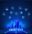 smart city landscape and system monitoring and vector image vector image