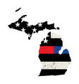 state michigan police and firefighter support vector image vector image