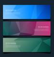 stylish geometric headers set background vector image vector image