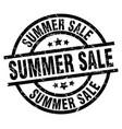 summer sale round grunge black stamp vector image vector image