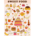 Sweets food set vector | Price: 3 Credits (USD $3)