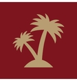 The palm icon Island symbol Flat vector image vector image