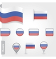 The Russian flag - set of icons and flags vector image vector image