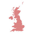 uk and northern ireland dot map silhouette vector image vector image