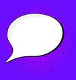 vinage speech bubble in pop vector image vector image