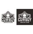 vintage wild west monochrome logotype vector image vector image