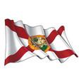 waving flag state florida vector image