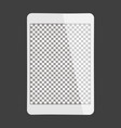 white tablet transparent screen vector image