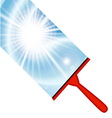 window cleaning background with squeegee vector image