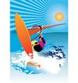 windsurfer vector image vector image