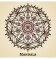 Yoga meditation mandala ornament vector image vector image
