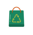 shopping bag icon in flat style vector image