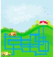 back to school - maze vector image