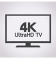 4k ultrahd tv icon vector image