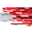 abstract red grey white motion hi-tech technology vector image vector image
