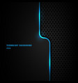 abstract template blue vertical line and lighting vector image