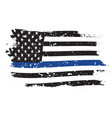 An american flag symbolic support for law