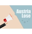 Austria lose Flat design business vector image vector image