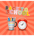 Back to School Retro Background with Paper Cut vector image vector image