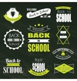 Back To School Typographic Emblems vector image