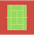 background of tennis court vector image vector image