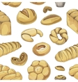 Bakery and pastry products icons set pattern vector image
