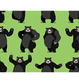 baribal seamless pattern American black bear vector image vector image