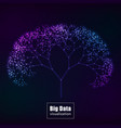 big data visualization glowing tree vector image