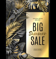 big sale vertical banner summer sale tropical vector image vector image