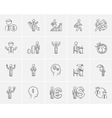 Business sketch icon set vector image vector image