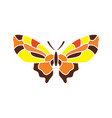 butterfly abstract sign vector image vector image