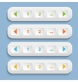 Buttons with shadow vector image vector image