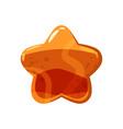 candy honey star jelly icon cartoon style shiny vector image