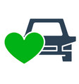 car with heart colored icon car insurance like vector image vector image