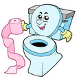 cartoon toilet vector image