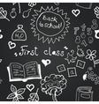 chalkboard school seamless pattern vector image vector image