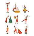 christmas elf characters set cute boys santa vector image vector image