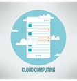 Cloud computing concept suitable for business vector image