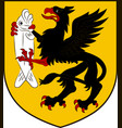 coat of arms of szczecinek in west pomeranian vector image vector image