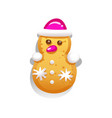cute gingerbread cookies for christmas vector image vector image