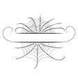 decorative spider web border vector image vector image