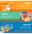 Delivery service horizontal banners set vector image vector image
