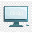desktop computer icon cartoon style vector image