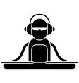 DJ Logo vector image vector image