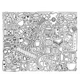 doodle monochrome modern art vector image vector image
