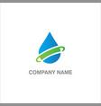 droplet eco water logo vector image vector image