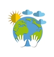 ecology icon design vector image vector image