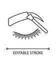 eyebrows tinting linear icon vector image vector image